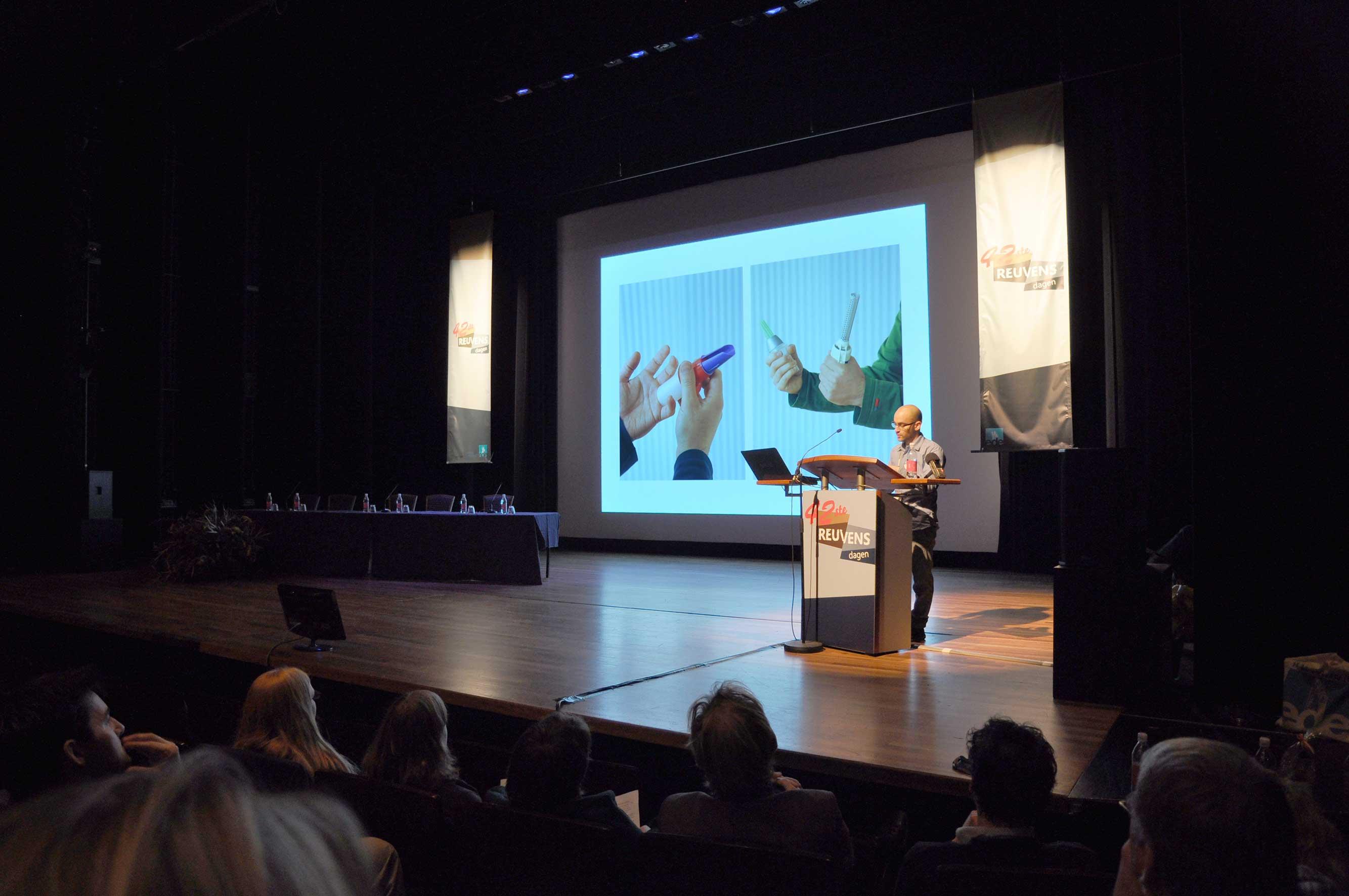 Lecture-Performance während der Reuvensdagen, Niederländischer Archäologiekongress 2012